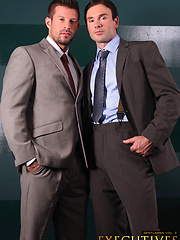 Two office man in suites Kyle King and Mitch Branson