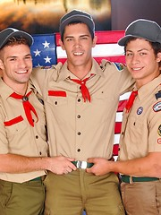 Gay boyscouts have wild anal fucking in the room