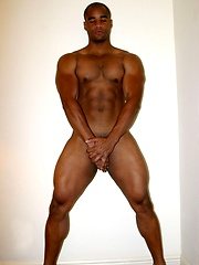Black athlete naked