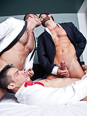 Sex After a Business Lunch Starring Adam Killian, Fernando Torres, and Valentino Medici