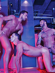 Adam Killian Leads a Nine-Man Bareback Orgy
