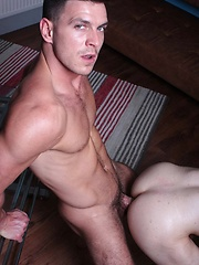 Paddy O'Brian ploughs his huge thick dick inside Scott Hunter